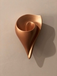 Rose Gold Shell Wall Sconce, Contemporary Hand Made Artisanal Sculptural Wall Light made by Hannah Woodhouse, for bedrooms, bathroom lighting, hallways, receptions, stairwells and all residential lighting use