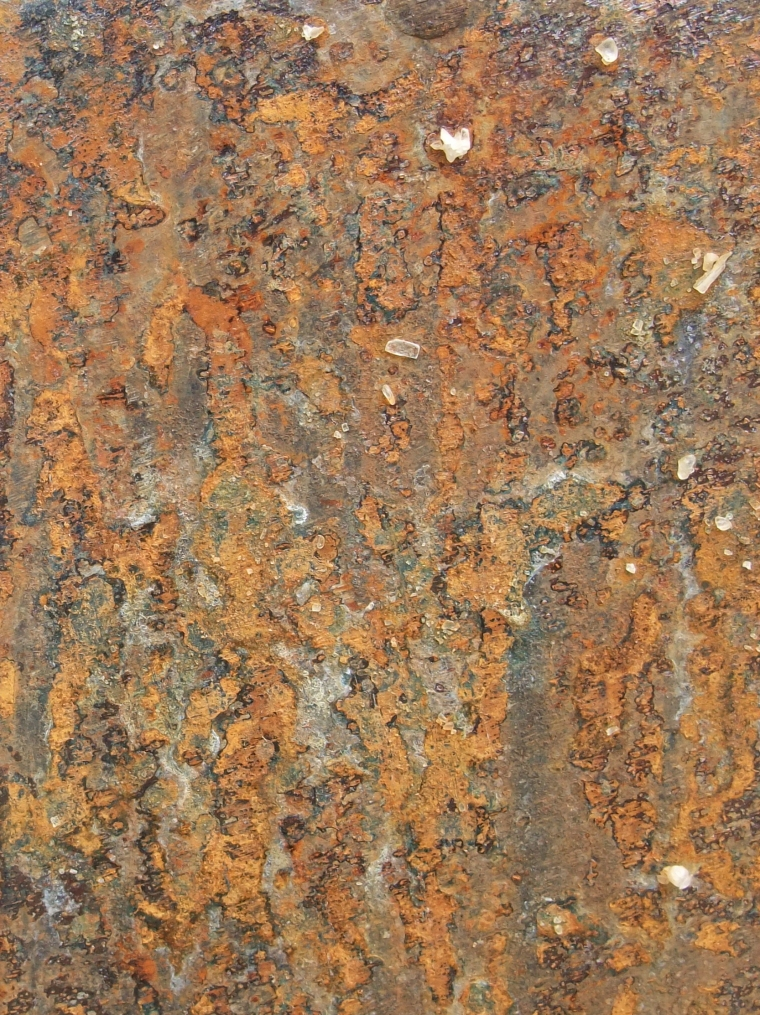 Rust patina by Hannah Woodhouse using local french sea salt
