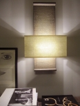 Architectural wall light perfect for hallways, stairwells and bedrooms, made in faux bronze by Hannah Woodhouse