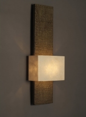 architectural wall light in faux bronze by Hannah Woodhouse