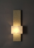 TALL TONY FAUX BRONZE WALL LIGHT, COLOUR ECRU BY HANNAH WOODHOUSE