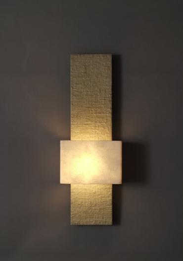 Tall tony wall light art wall lights tall tony faux bronze wall light colour ecru by hannah woodhouse aloadofball Gallery