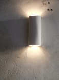 Gorgeous plaster sculptural wall light, up and down lighter, Serenity by Hannah Woodhouse