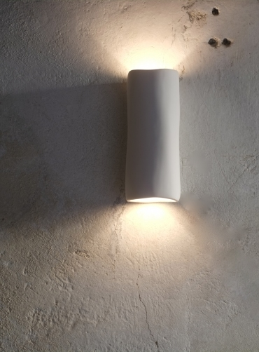 Plaster Wall Lights For Painting : Serenity Plaster Wall Light : Art Wall Lights