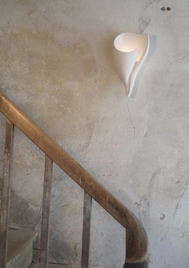 Plaster Wall Lights For Painting : Shell Plaster Wall Light : Art Wall Lights