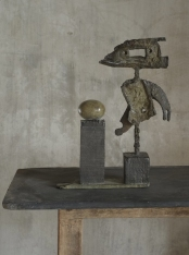 Beautiful bronze sculpture by Hannah Woodhouse, abstract bronze sculpture inspired by Miro and Giacometti