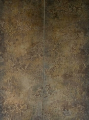 decorative wall panels, decorative doors, patinated doors by Hannah Woodhouse